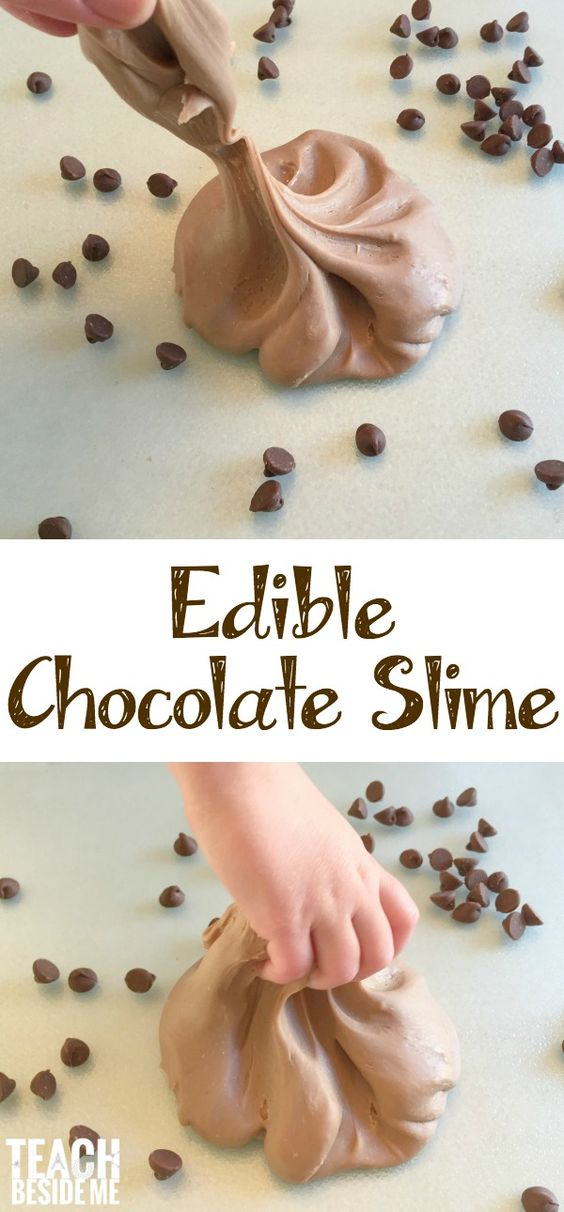 Edible Chocolate Slime.