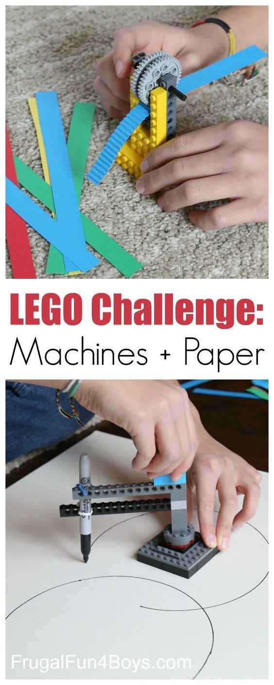 LEGO Building Challenge: Machines + Paper.