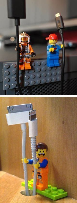 Lego Cable Holder.