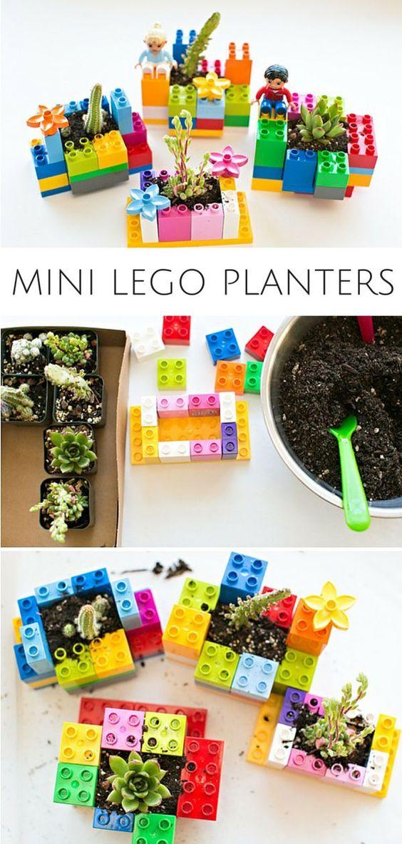 Mini DIY LEGO Planters.