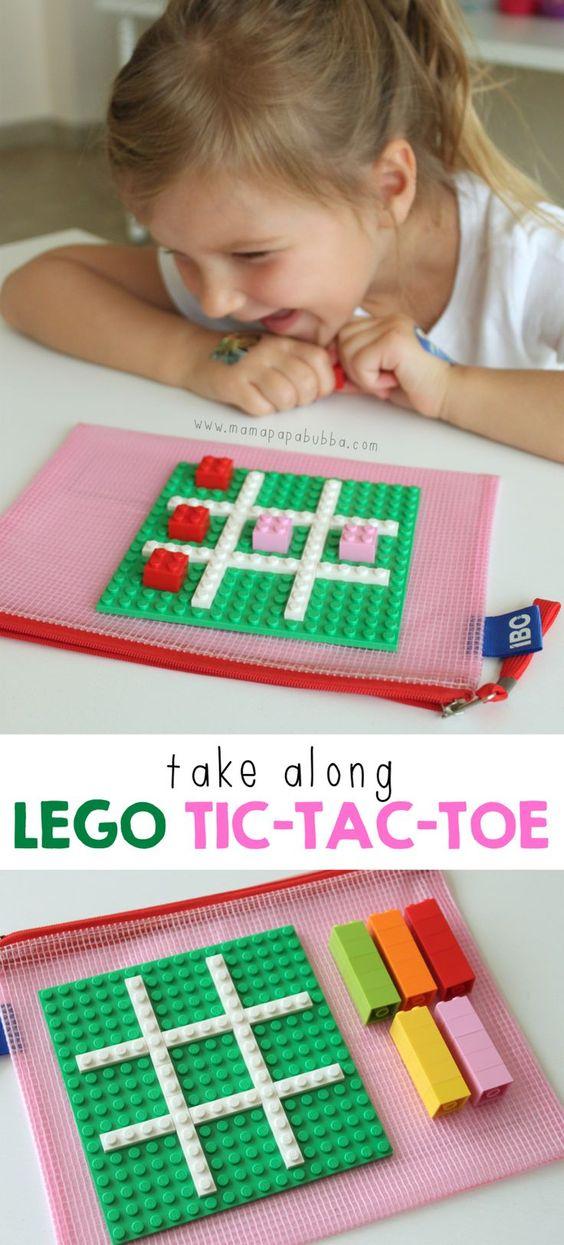 Lego Tic-Tac-Toe board.