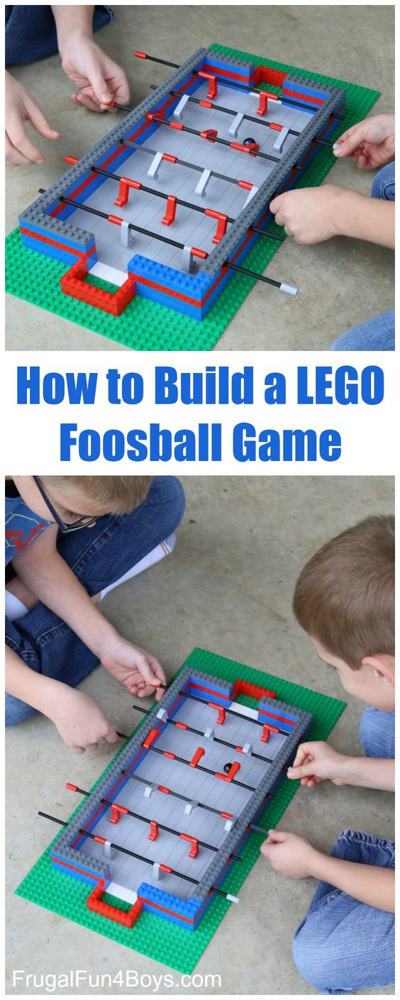 How To Build A Lego Foosball Game.