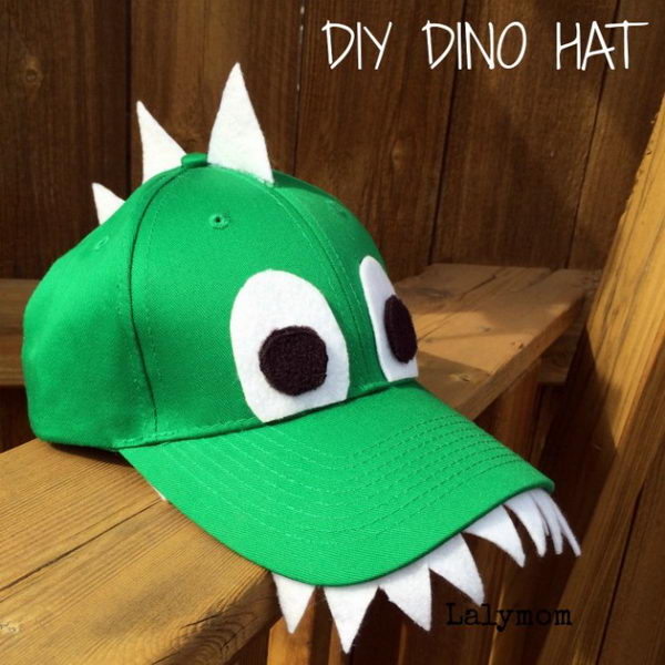 DIY Dinosaur Costume Hat.