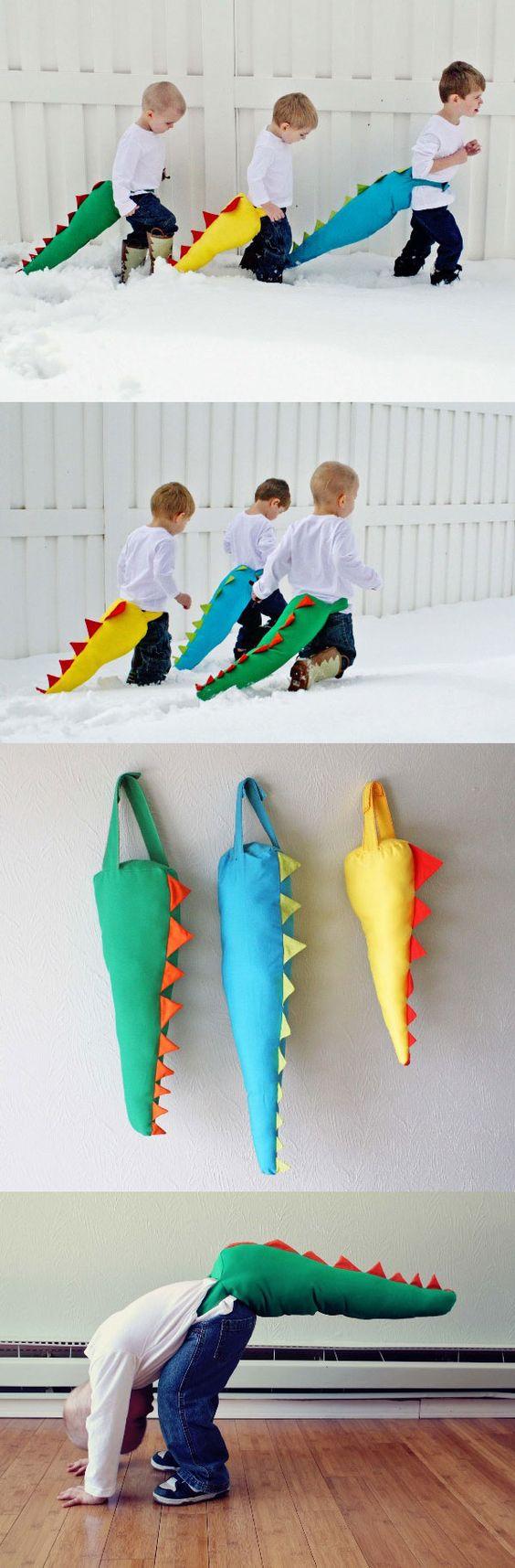 DIY Dinosaur Tails.