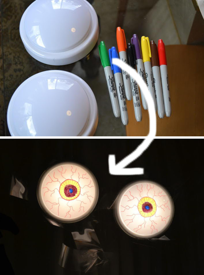 Turning Cheap Battery Powered Lights Into Creepy Eyeballs.