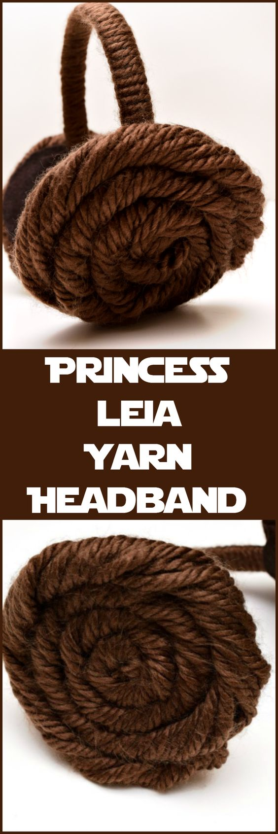 Princess Leia Yarn Headband.